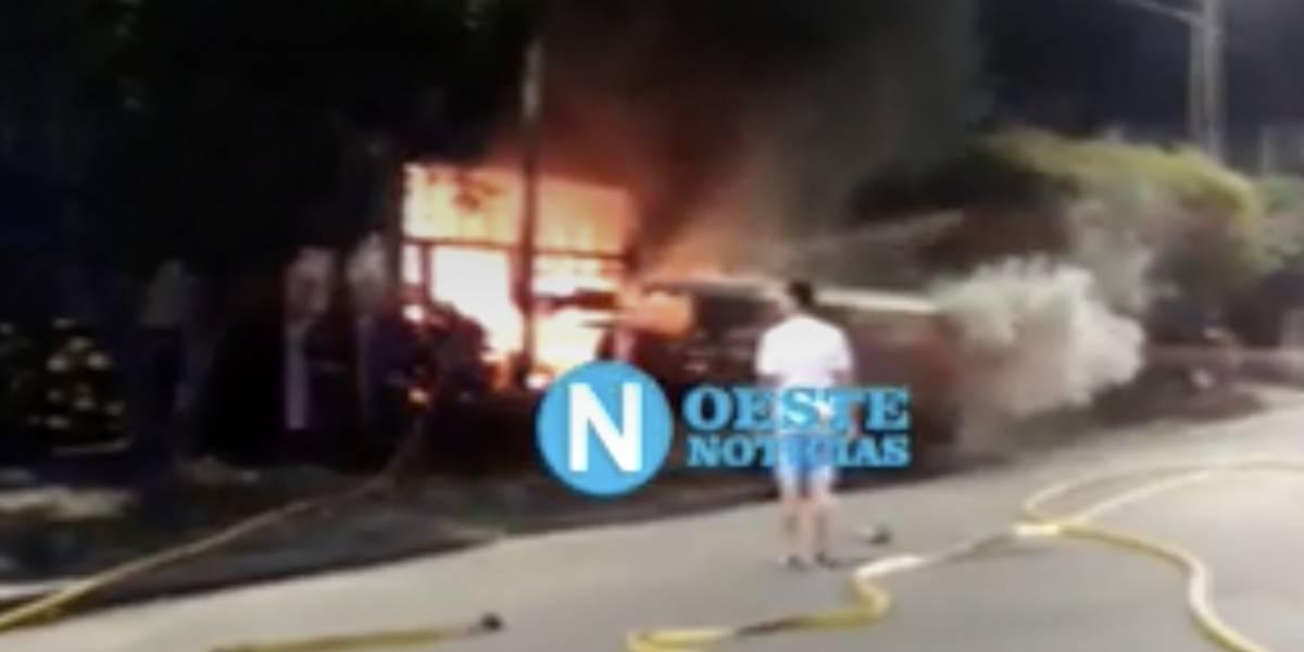 Argentina: le quemaron casa a chileno acusado de violación