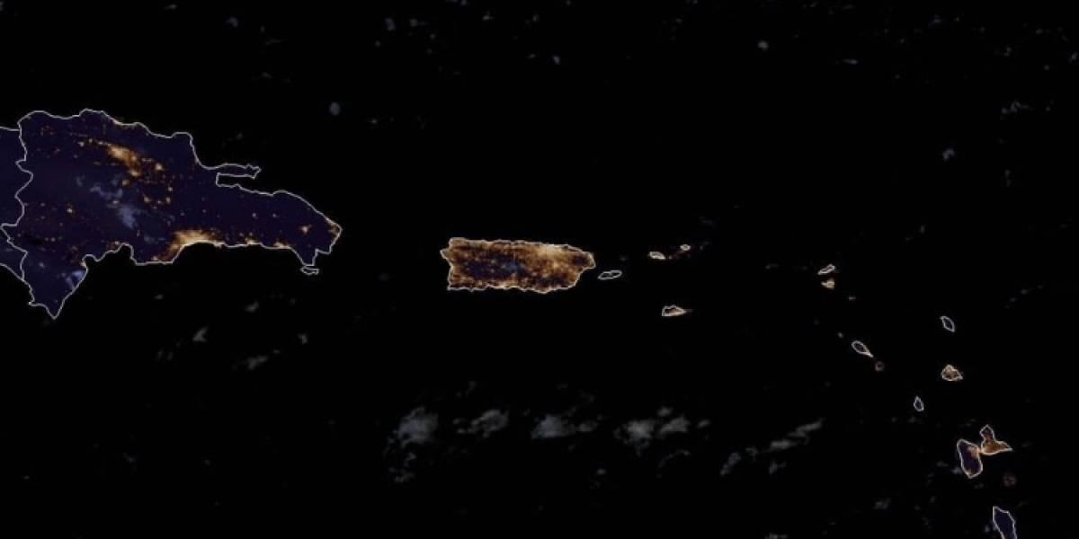 Así se ve Puerto Rico desde el espacio en la última noche del 2020