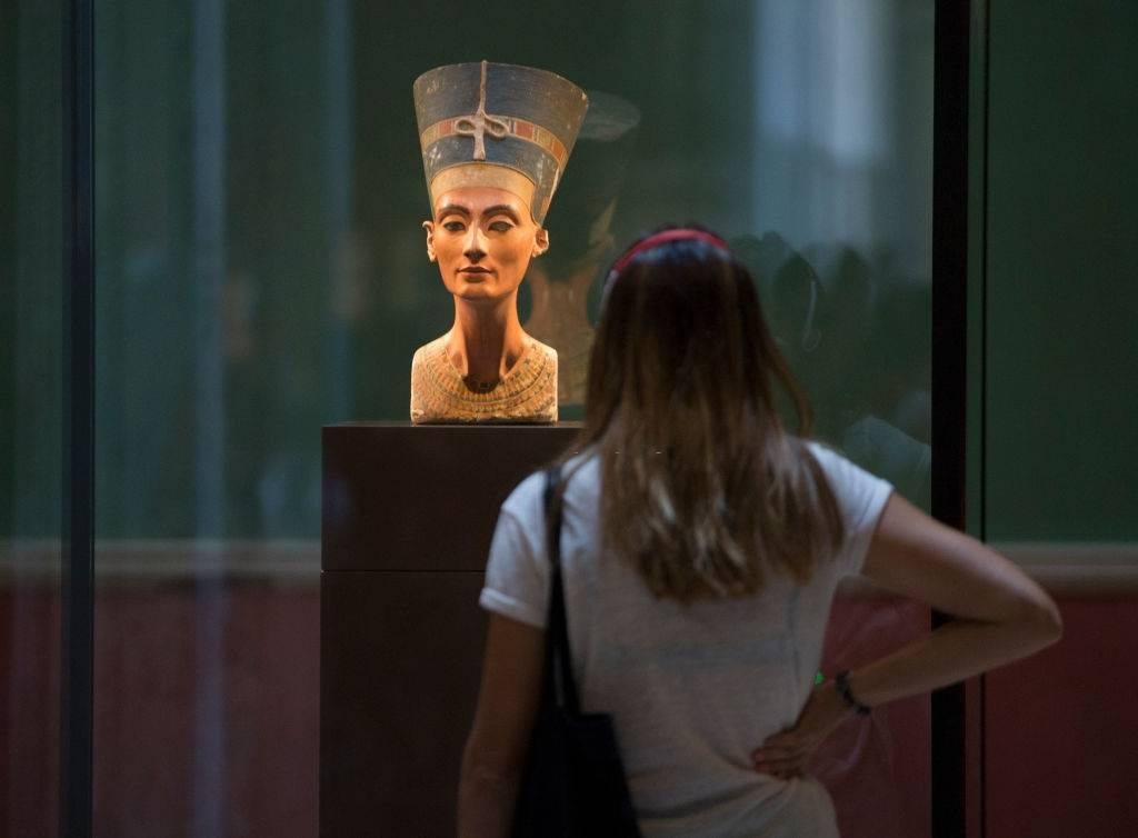 Nefertiti en una exhibición en Berlín.