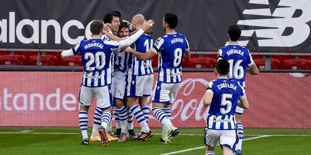 La Real Sociedad se aferra al tercer lugar en la Liga española tras ganar el derbi vasco