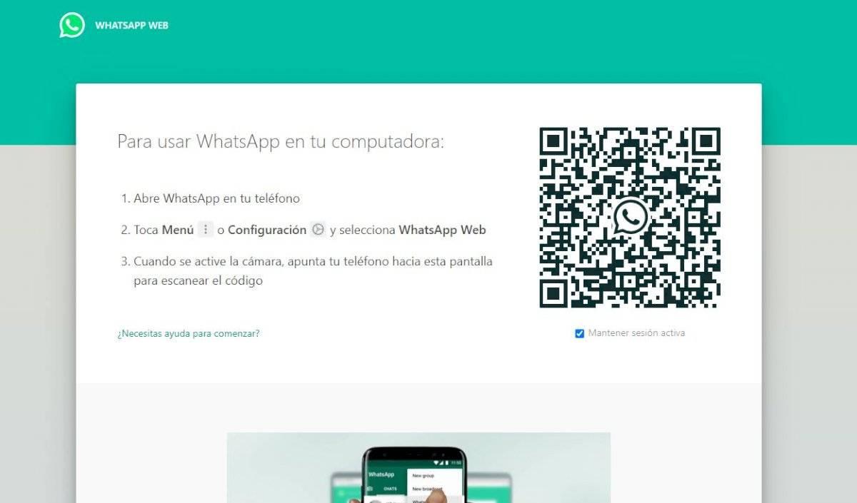 El truco también es válido para la versión web de WhatsApp