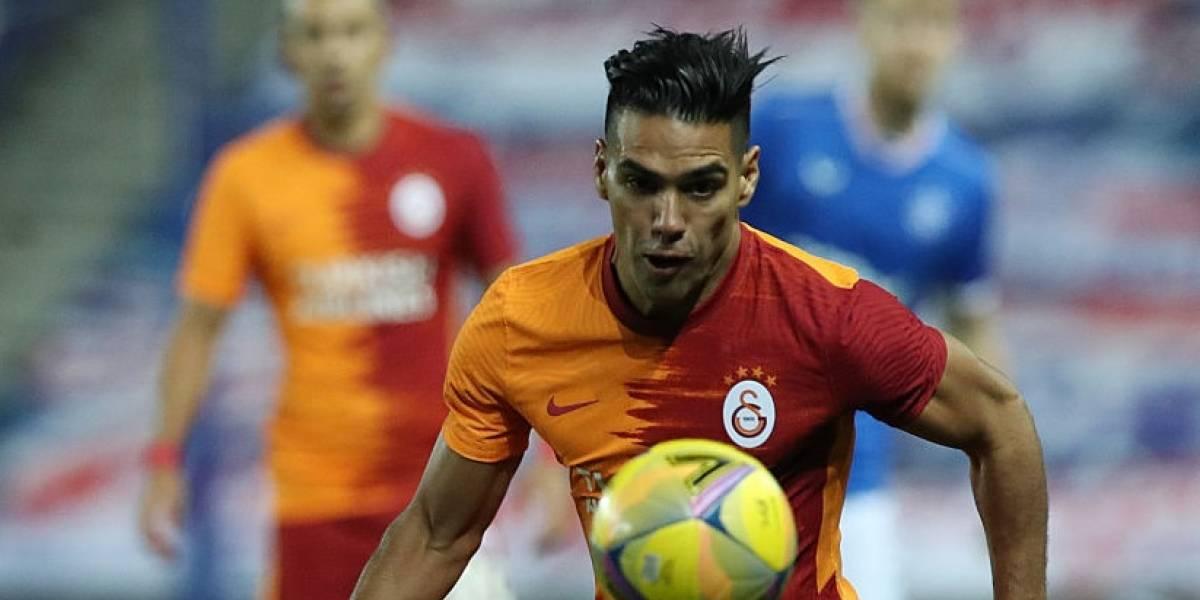 ¡Sin consuelo! Volvió a lesionarse Radamel Falcao en el Galatasaray