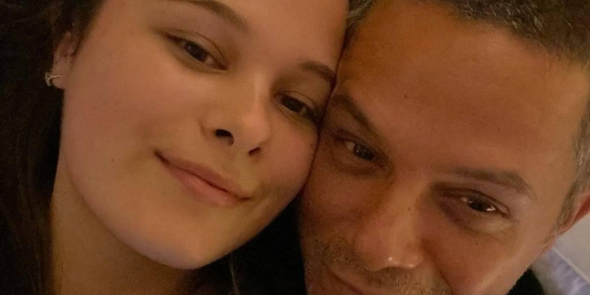 Alejandro Sanz está orgulloso de la transformación de su hija Manuela
