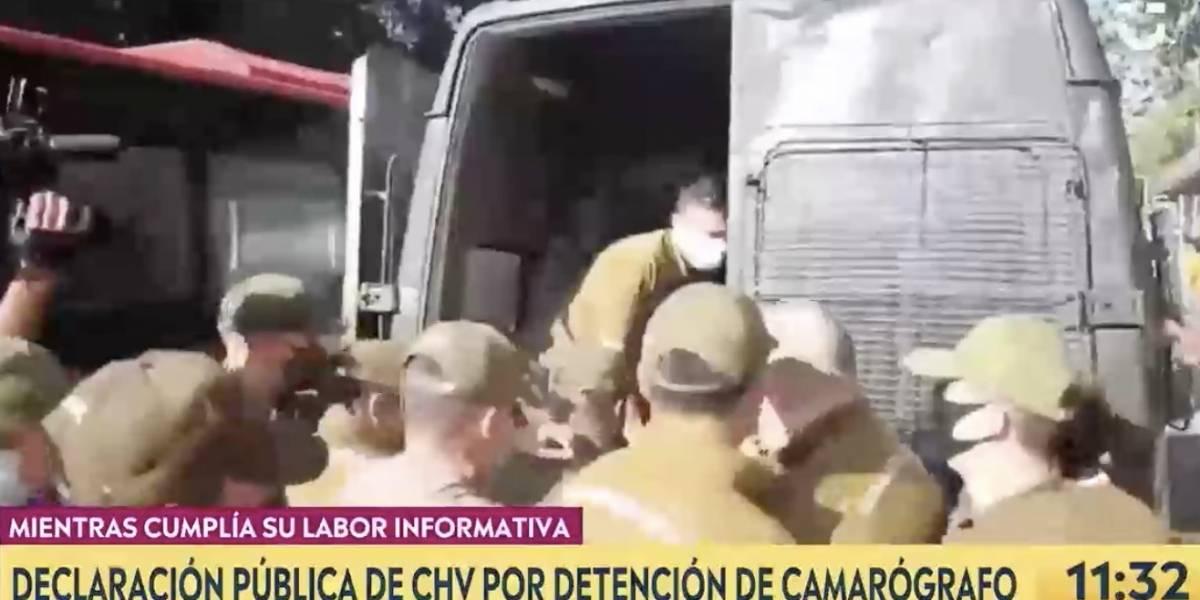 """Habla camarógrafo de CHV detenido en toma del Mineduc: """"La situación se vio peor de lo que pudo ser"""""""