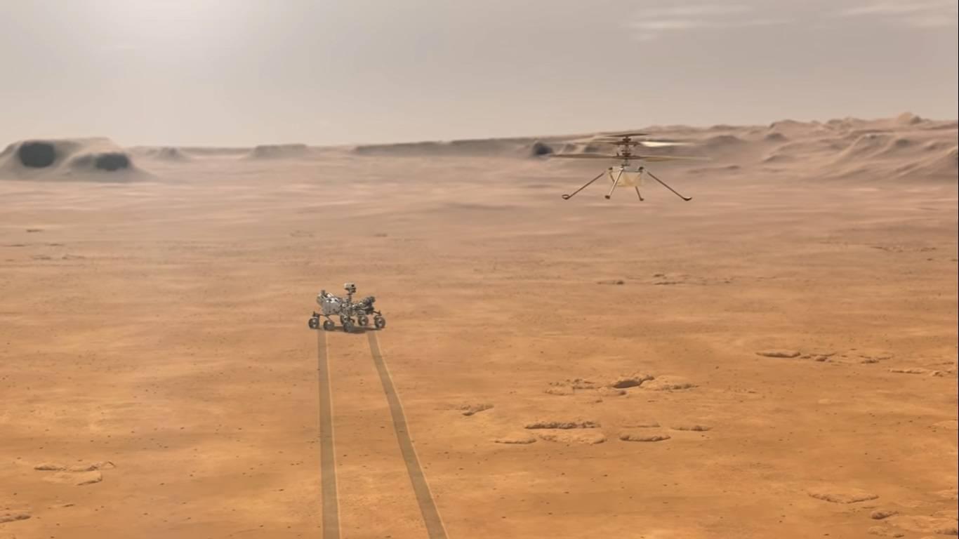 Drone Helicóptero en Marte