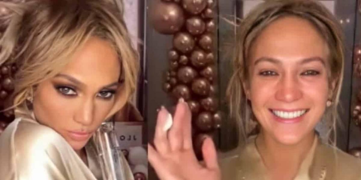 JLo enciende las redes al mostrar su rutina de limpieza facial y la apariencia de su piel