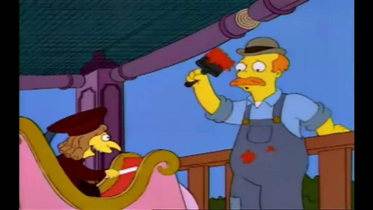 Los Simpson Señor Burns Caníbal