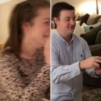 Homem deixa namorada em lágrimas após falso pedido de casamento durante o Natal