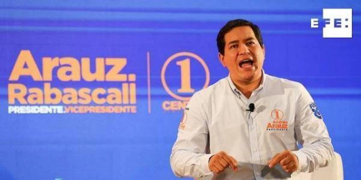 Candidato Andrés Arauz se pronuncia tras superar el coronavirus