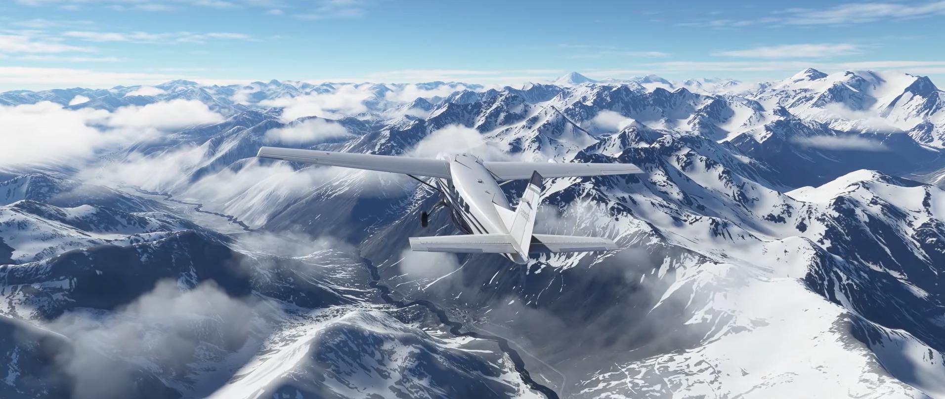 Microsoft Flight Simulator 2020 nieve