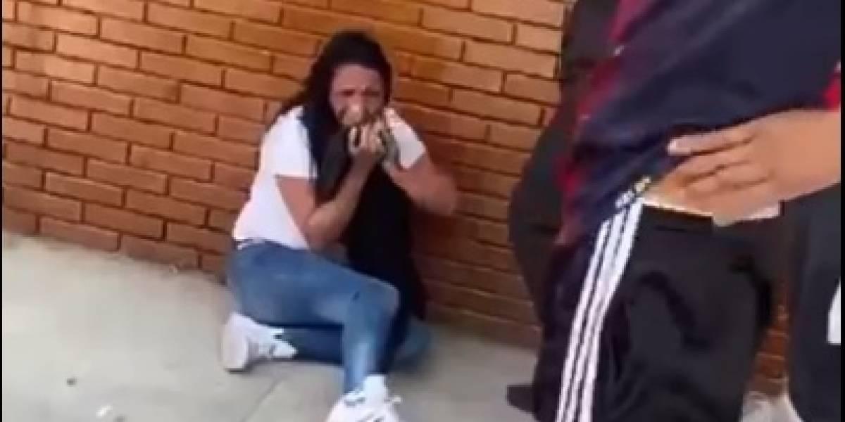 Mujer recibe golpiza en el sur de Bogotá al ser acusada de ladrona