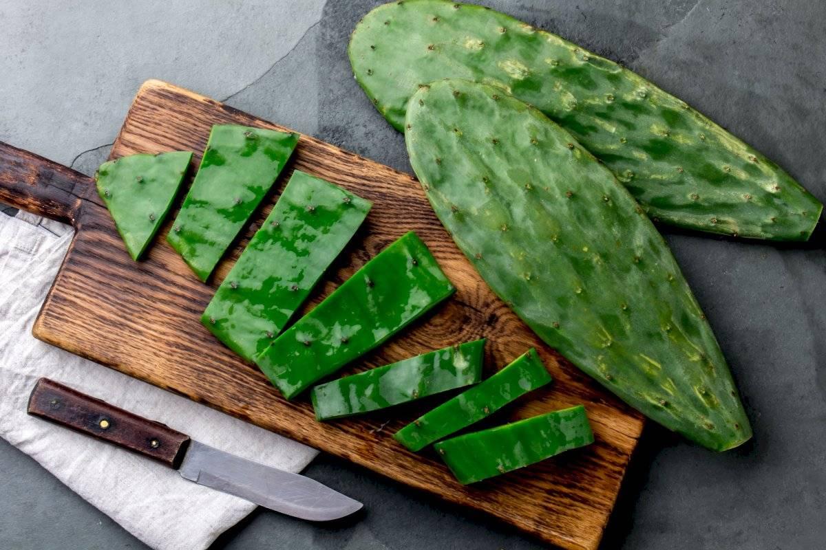 El nopal es un ingrediente típico de la comida mexicana