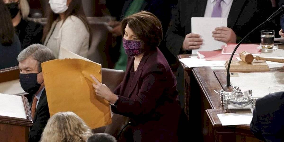 Este fue el momento en que el Congreso validó la victoria de Joe Biden como presidente