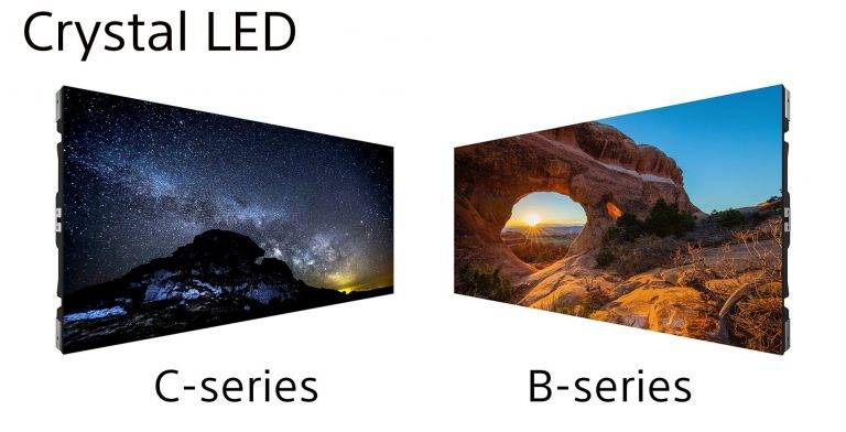 Las pantallas modulares de Sony.