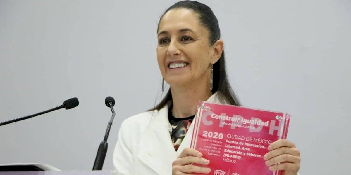 Unesco otorga premio a CDMX por programa 'Pilares'