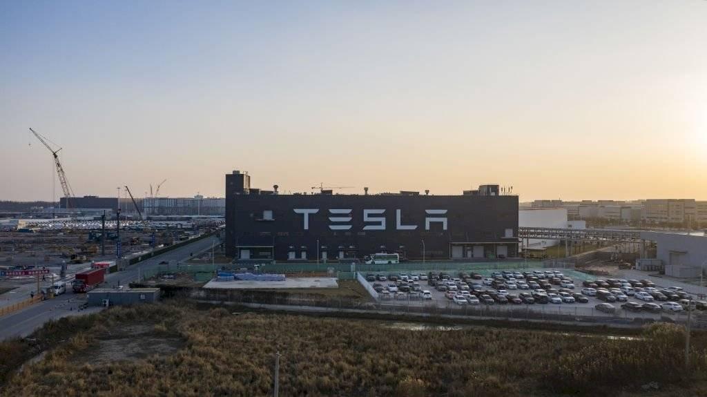 Fábrica de Tesla en China.