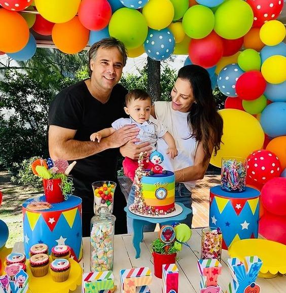 Luciana Aymar, Fernando González y su hijo