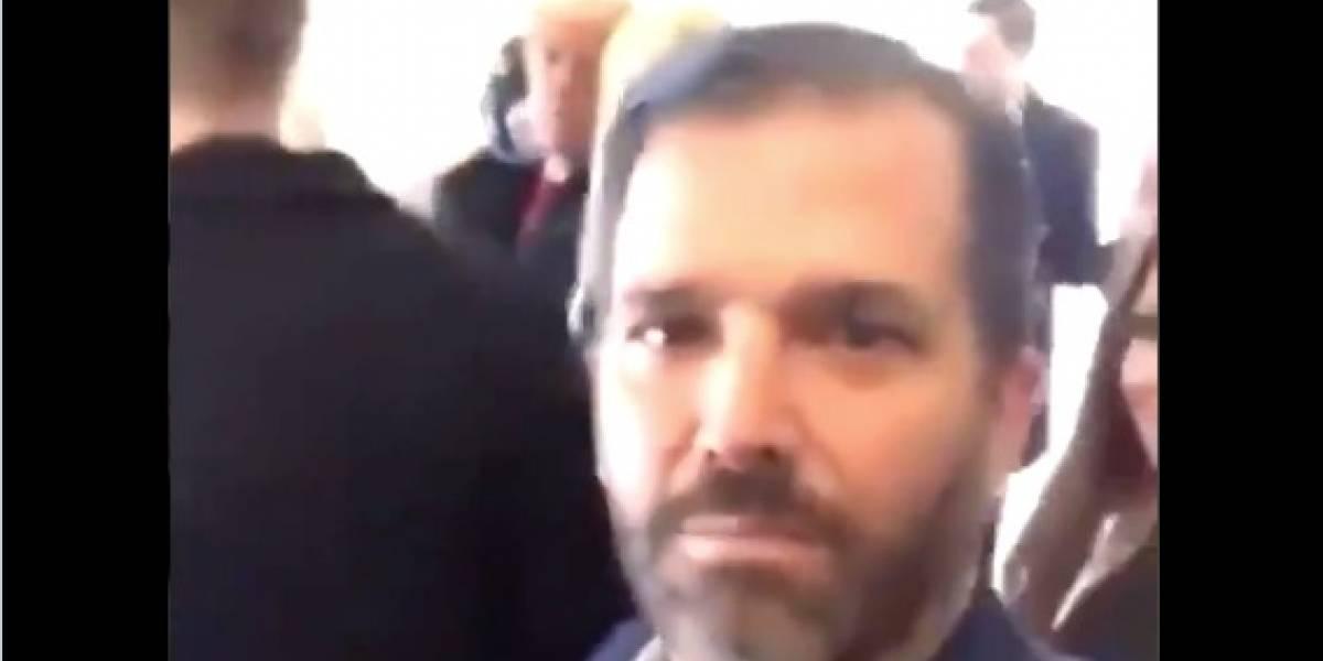 Video del hijo de Donald Trump durante las protestas se viraliza