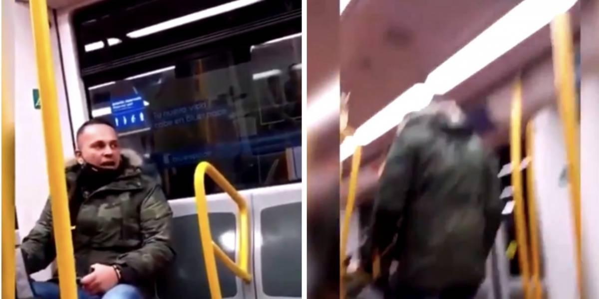 """¡Indignante! Hombre en pleno metro llama a mujer """"sudaca de mierda"""" y """"escoria"""""""