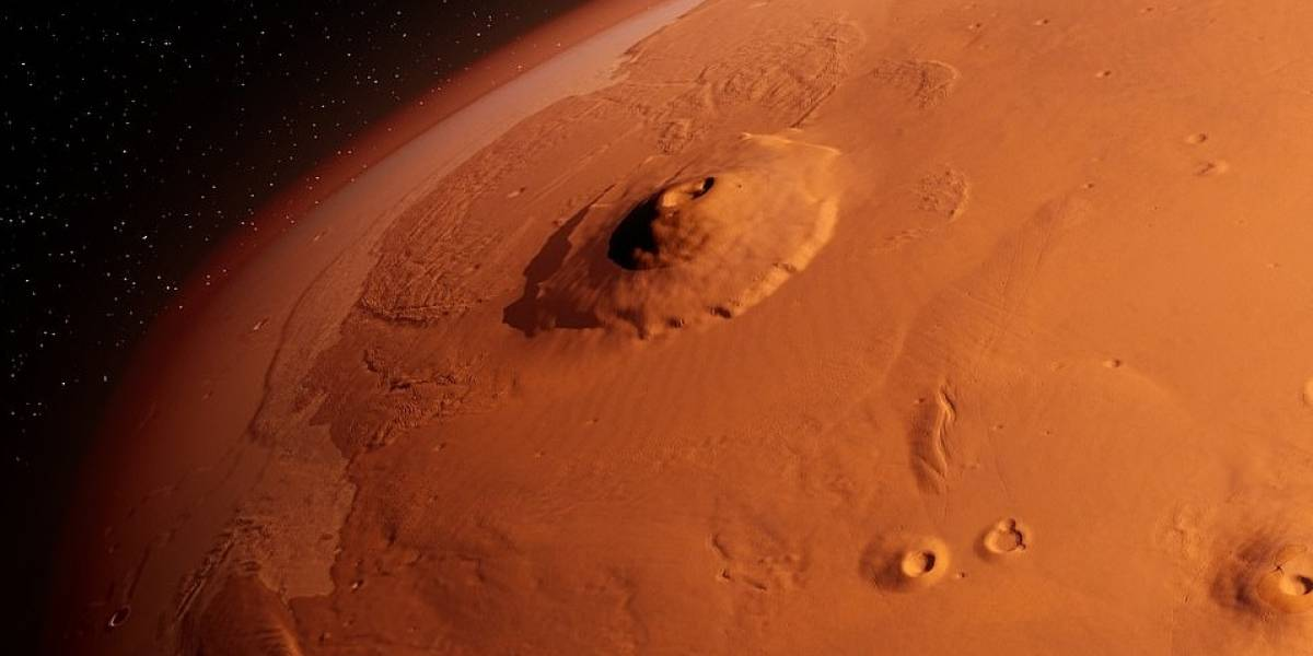 La sonda espacial china que llegará dentro de cinco días a Marte, envió su primera visual del planeta rojo