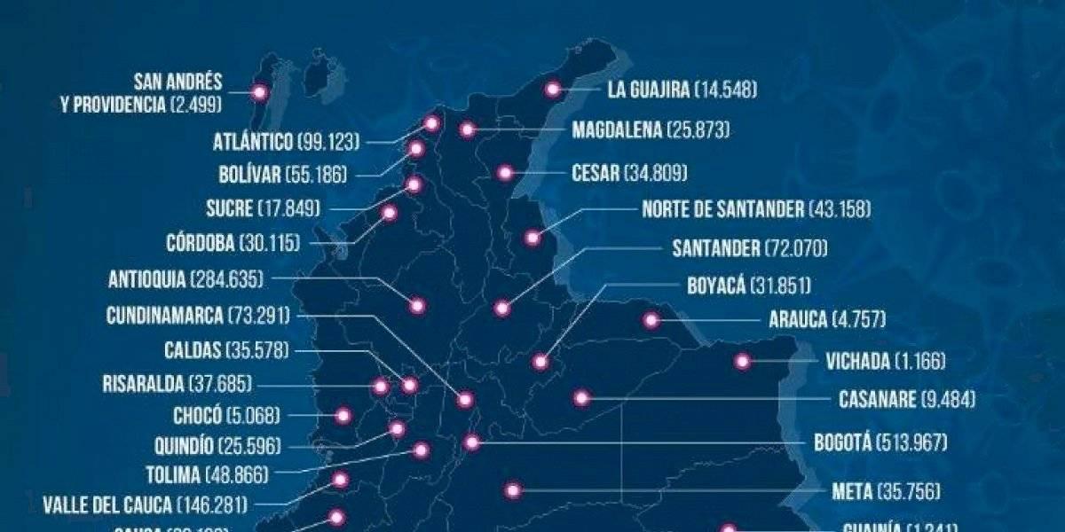 Nuevo reporte desolador de contagios y fallecidos por coronavirus en Colombia