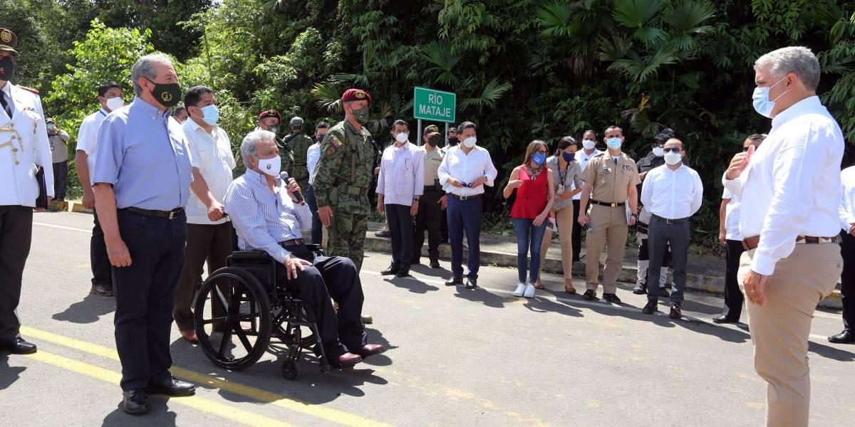 Carretera que llega al puente Mataje del lado colombiano estará lista en junio, anuncia Duque