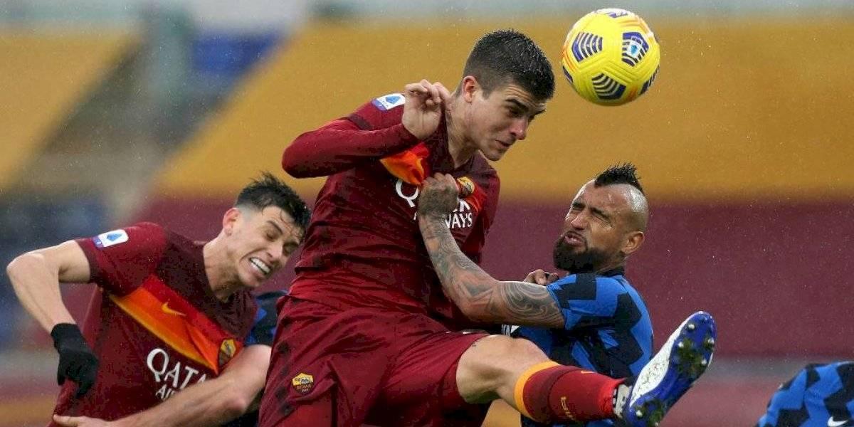 Con Vidal y sin Sánchez: Inter iguala con la Roma y deja escapar al Milan en la cima de la Serie A