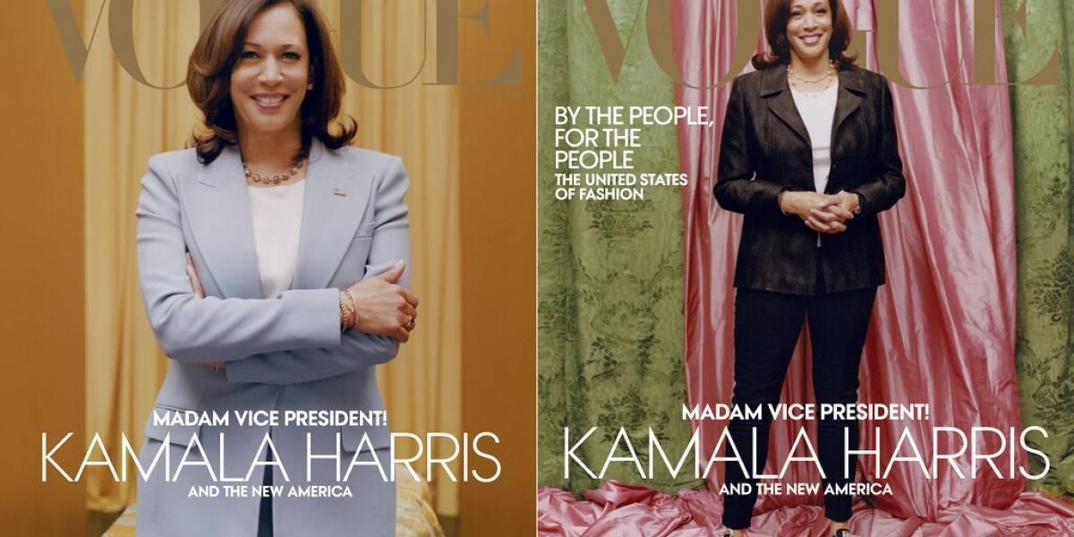 Portada casual de Kamala Harris en Vogue desata polémica