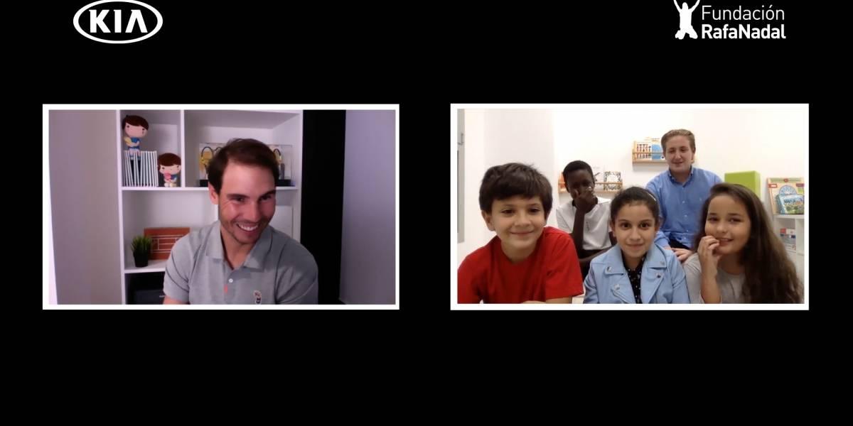 Kia reunió a los niños con Rafa Nadal como parte de su campaña #TakeOn20