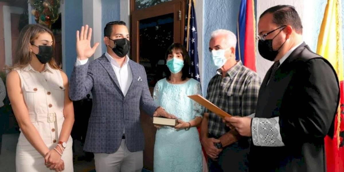 Juramenta el nuevo alcalde de Aguada