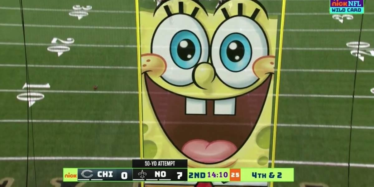¡Insólito! Así fue la transmisión de la NFL por Nickelodeon
