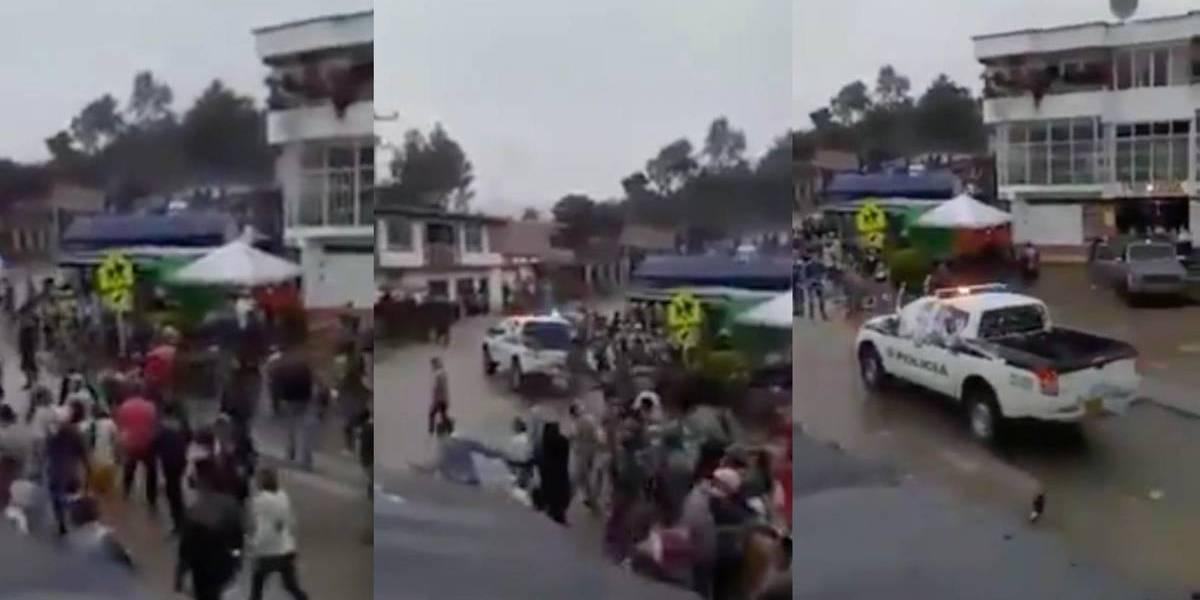 En Huila sacaron a la Policía con piedras y palos cuando intentaban terminar una fiesta
