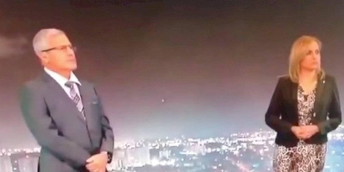 """Caída de un meteoro es captada en plena transmisión de """"Noticentro al amanecer"""""""