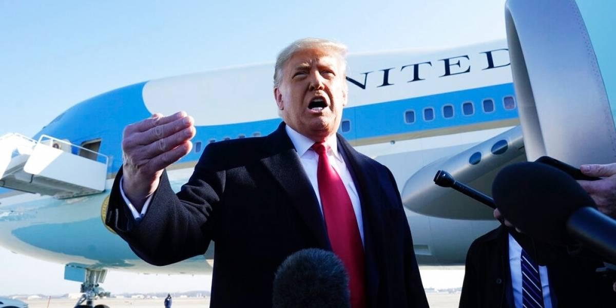 Donald Trump no acepta responsabilidad por actos violentos en el Capitolio