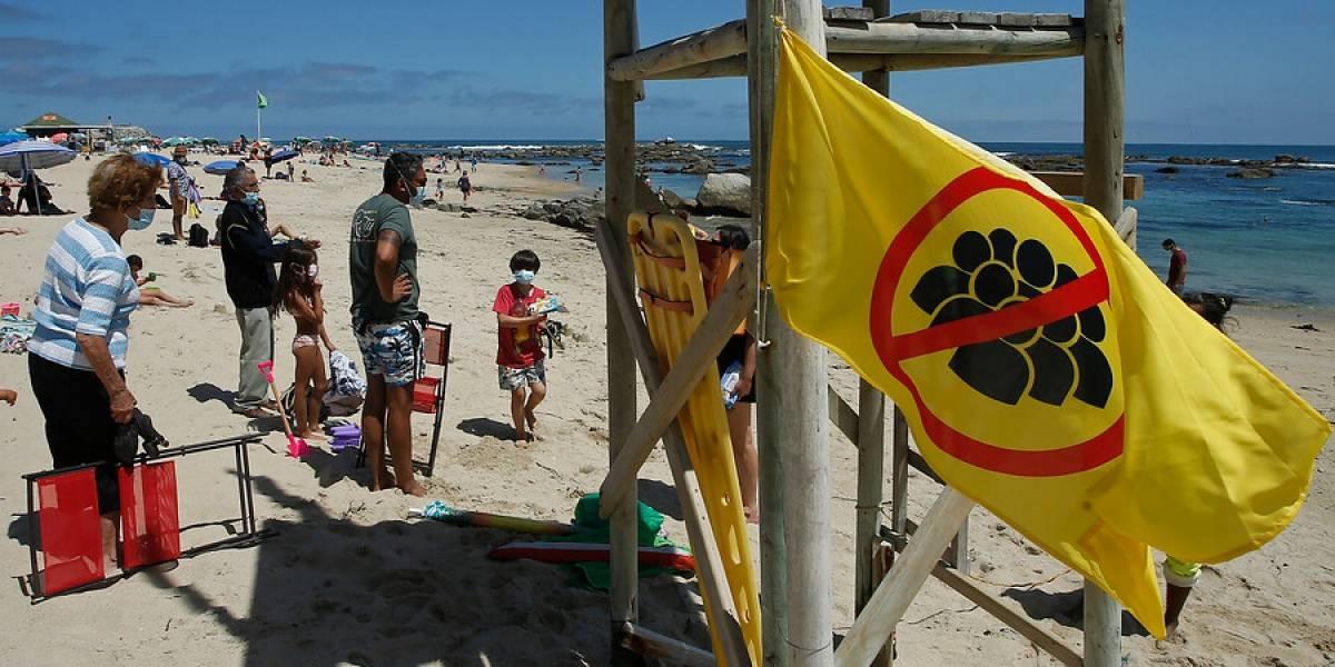 ¿De qué sirve la bandera? Seremi de Salud aclara que no puede prohibir el ingreso a las playas