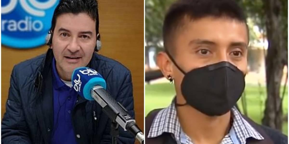 Le dan palo en redes sociales a Néstor Morales por entrevista a joven que trinó contra Duque