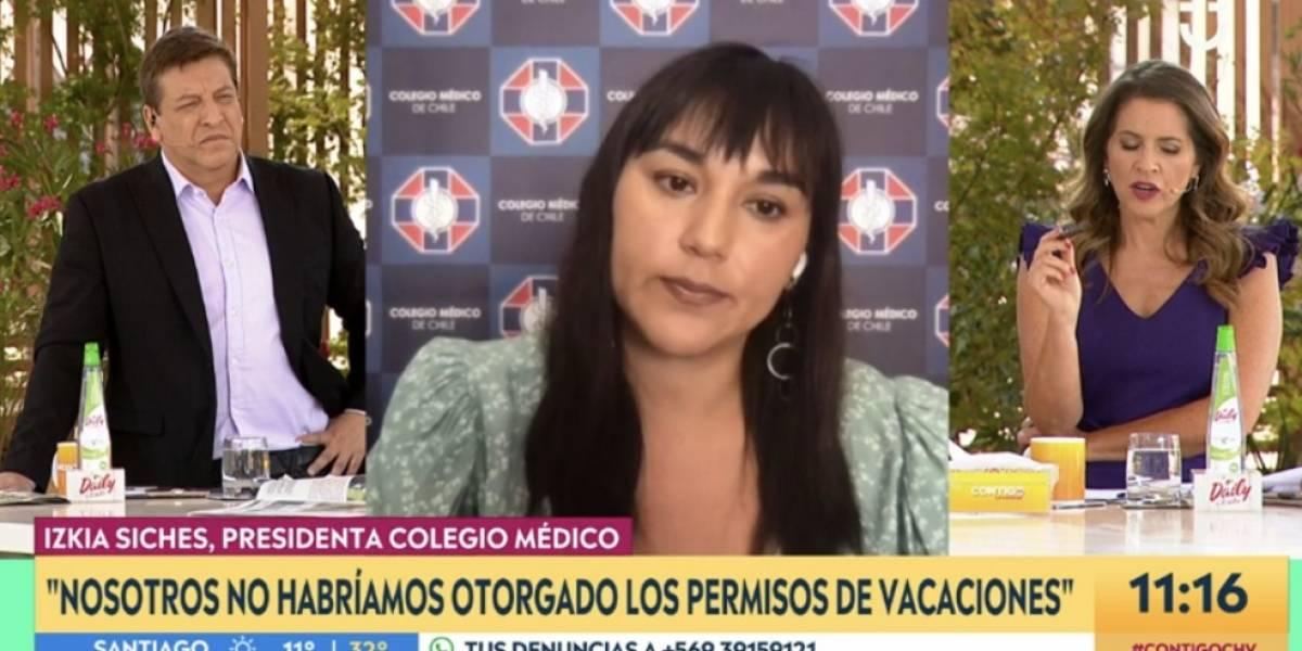 """Izkia Siches tajante: """"Nosotros no habríamos otorgado los permisos de vacaciones"""""""