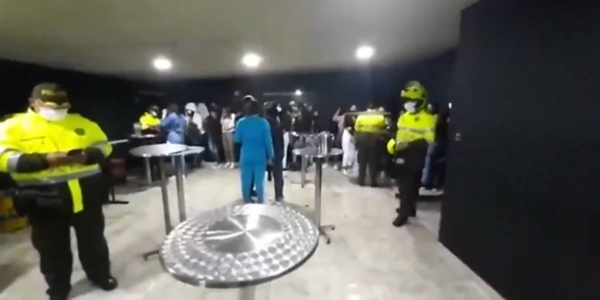 (VIDEO) Sorprenden en Bogotá a más de 30 menores en fiesta clandestina