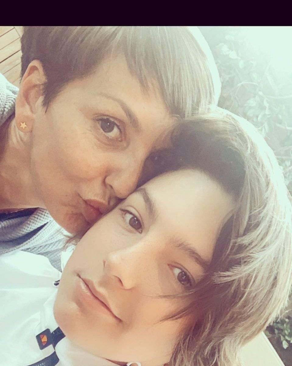 Fran García y su hijo