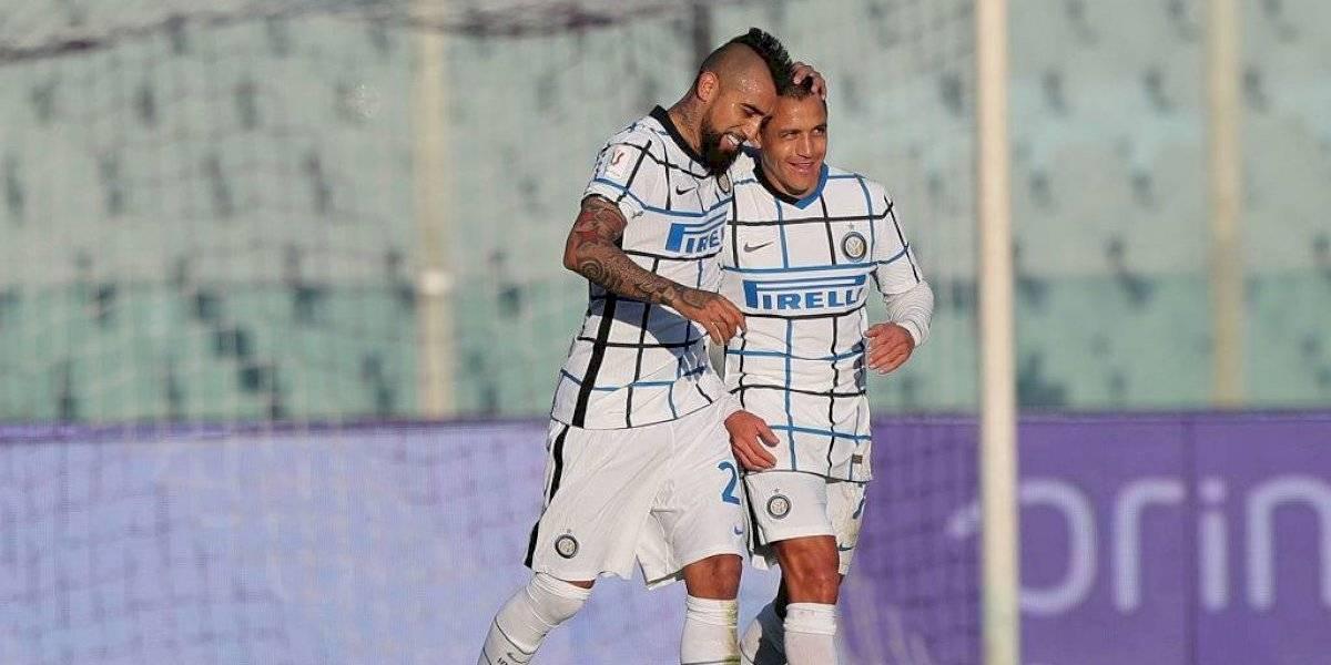 ¡Por fin llegó el gol! Arturo Vidal celebra su primer tanto con la camiseta del Inter