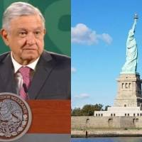 """""""La Estatua de la Libertad se está poniendo verde de coraje"""": AMLO se posiciona contra la censura en redes"""
