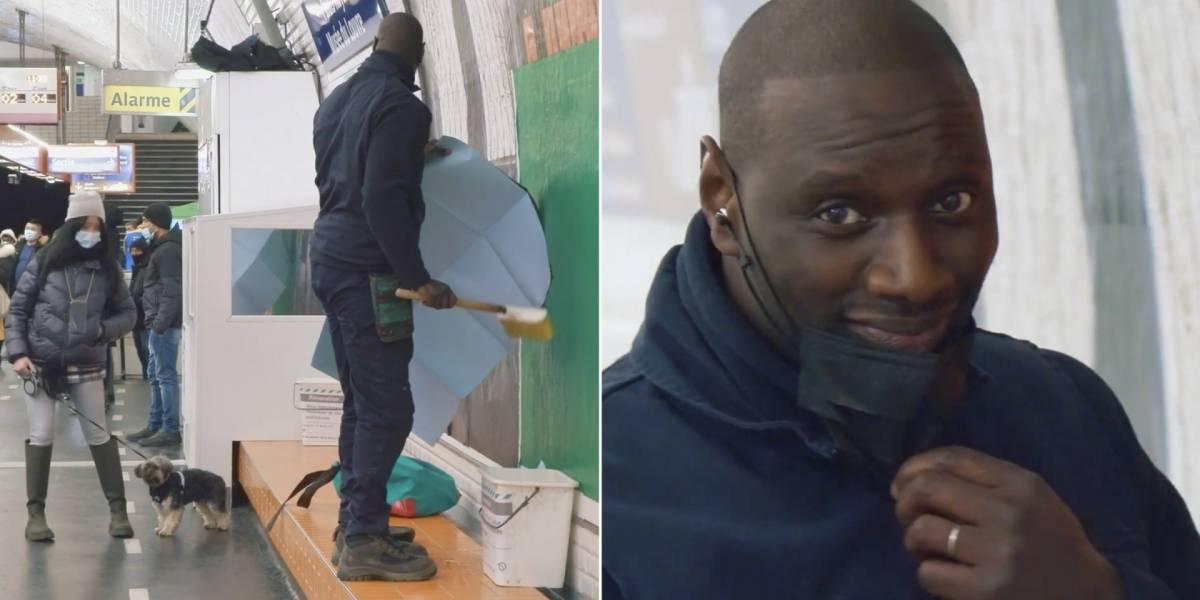 Vídeo: astro da série policial francesa 'Lupin', da Netflix, passa despercebido no metrô de Paris