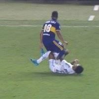 VIDEO: Brutal pisotón de Frank Fabra sobre Marinho en la Copa Libertadores
