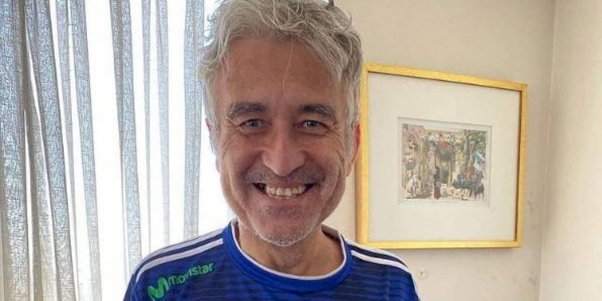 Jorge González sigue en modo futbolero: ahora posó con una camiseta de la U