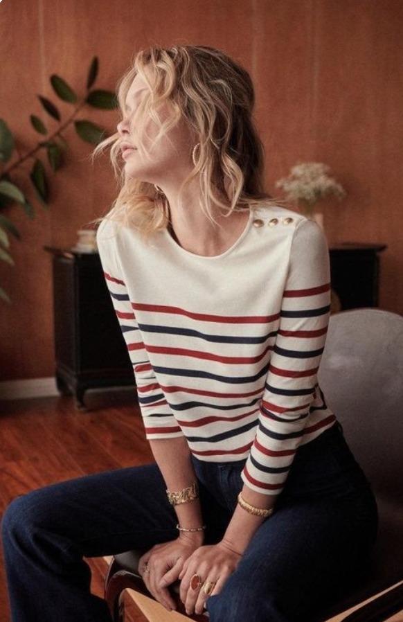 Suéter estilo marinero