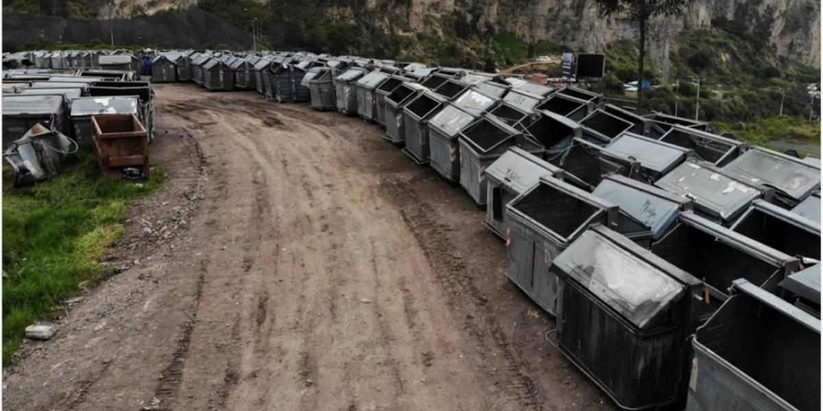 En 2020, cada 9 días un conductor chocó y dañó un contenedor en Quito