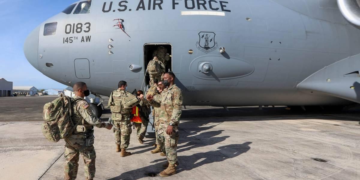 Soldados boricuas parten a toma de posesión de Joe Biden