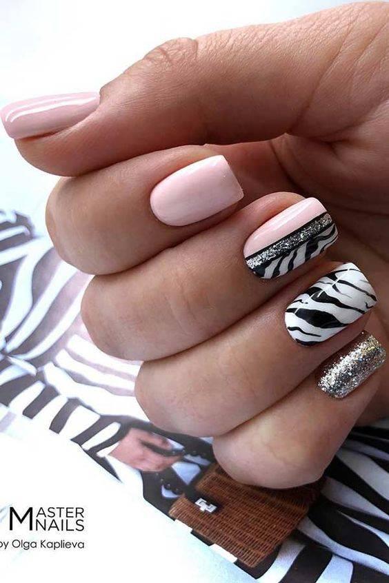 diseños de uñas animal print