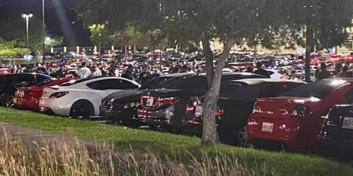 Intervienen con encuentro en el estacionamiento de The Outlets at Montehiedra