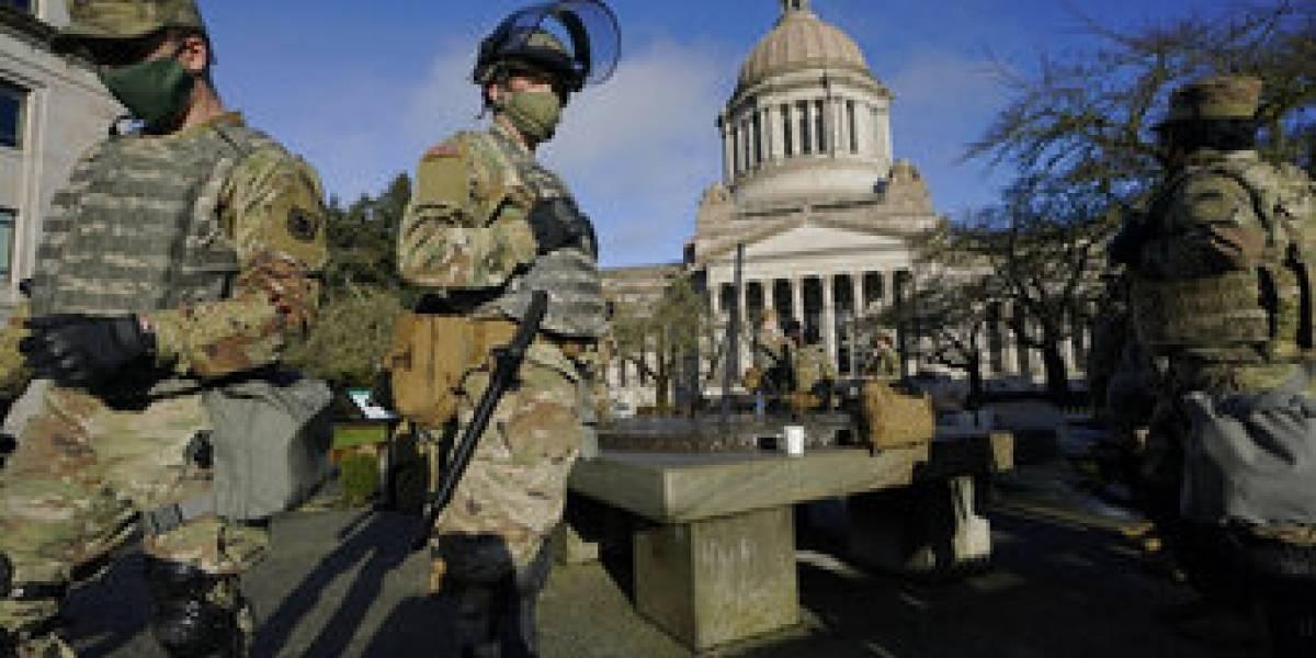 Estados Unidos militariza seguridad para evitar protestas armadas en la víspera de la toma de mando de Biden
